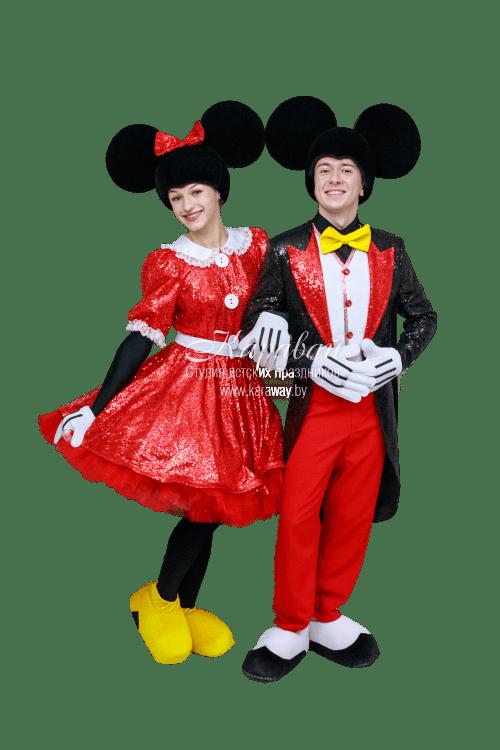 Ростовая кукла Микки и Минни Маус