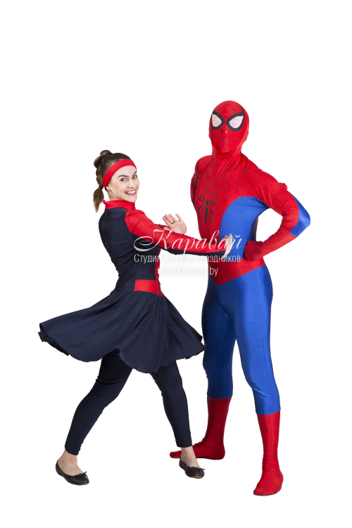 Аниматоры Человек-паук и агент Кити
